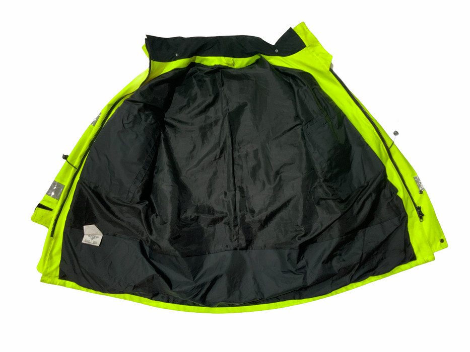 Hi-Vis 3/4 Goretex Waterproof Rain Coat Security Marshal HVGC5B