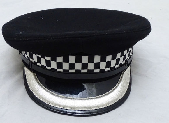 Genuine Chief Superintendent Silver Banded Flat Peaked Cap Collectors Grade B