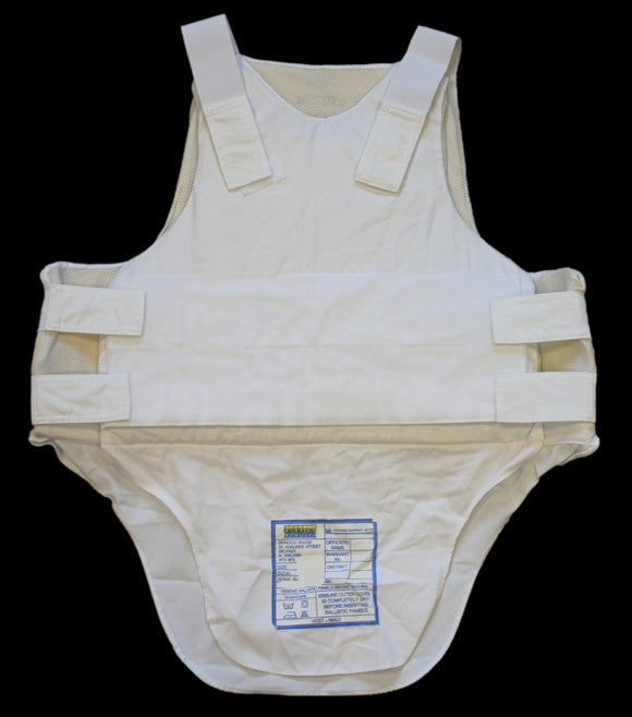 White Highmark Covert Bulletproof Body Armour Stab Vest Security AS-F
