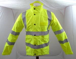 Hi Vis Waterproof Cycling Jacket With Scooped Back & Reflective Tape HVCC01A