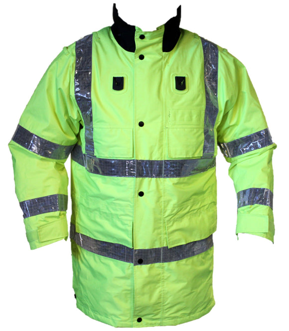 Ex Police Hi Vis Jacket Waterproof Rain Coat Security Dog Handler HVPC03B