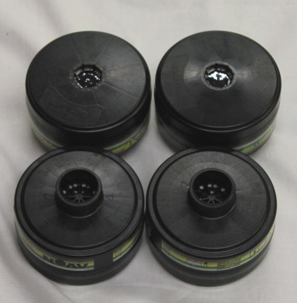 Used Avon Protection Gas Mask Filter 70010 FM12 CT10 C50 BRITISH ARMY