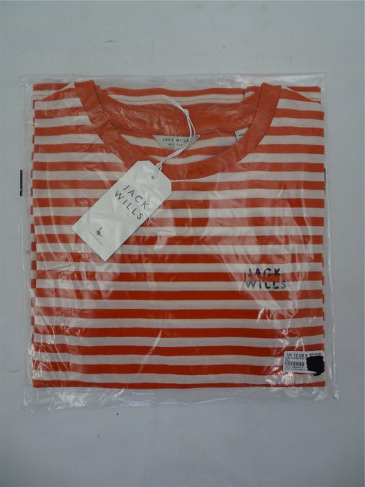 Brand New Jack Wills Alland 3/4 Sleeve Strip Tee - Womens