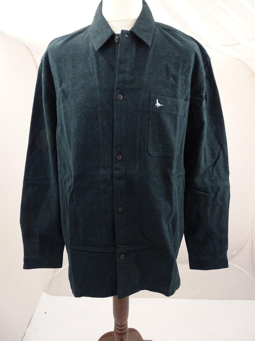 Brand New Jack Wills Percy Heavyweight Flannel Shirt Emerald - Mens