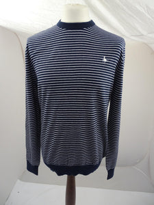 Brand New Jack Wills Seabourne Twist Crew Navy/White - Mens