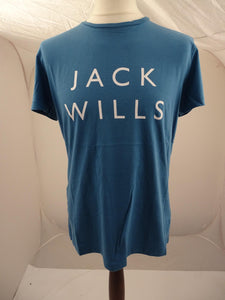 Brand New Jack Wills Westmore Stack Tshirt Airforce Blue - Mens