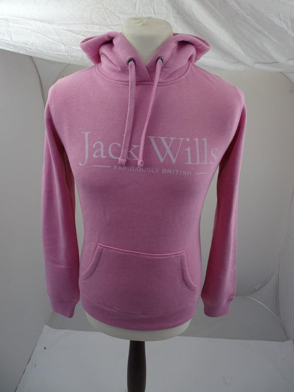 Brand New Jack Wills Pop Over Hoodie Pink - Womens