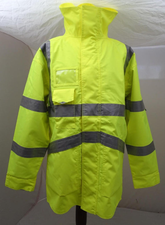 New Hivis LEO Workwear Coat Security Marshal Building Site HVLN