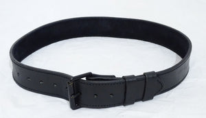 "Ex Police Black Leather 2"" Duty Belt With Black Buckle And Roller"