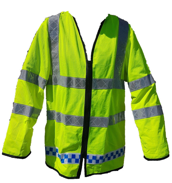 2 x Hi Vis Lightweight Reflective Traffic Overcoat Walking Recovery LW05B Large