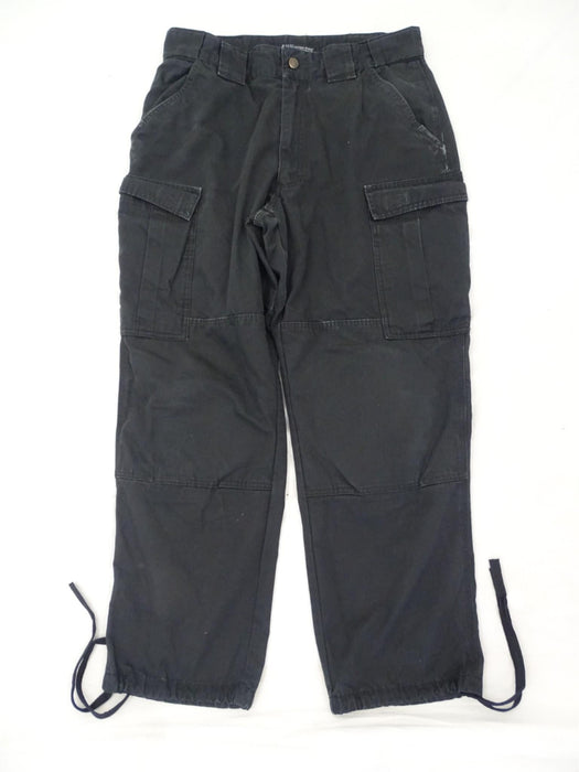 Men's Black 5.11 Tactical Series TDU® PANT Ripstop Cargo Trousers Grade B