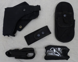 Genuine Black Nylon Molle Vest Kit with 5 Pouches Grade B - Set 2