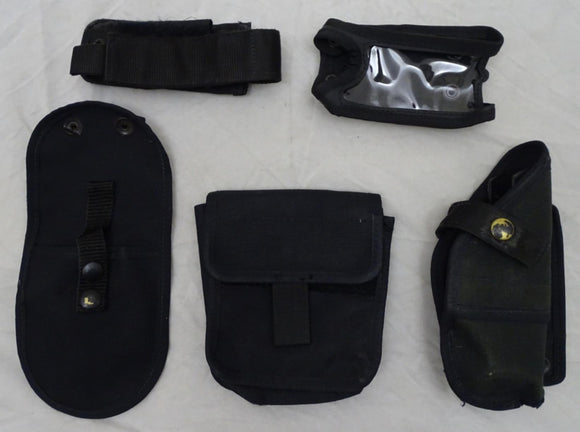 Genuine Black Nylon Molle Vest Kit with 5 Pouches Grade B - Set 3