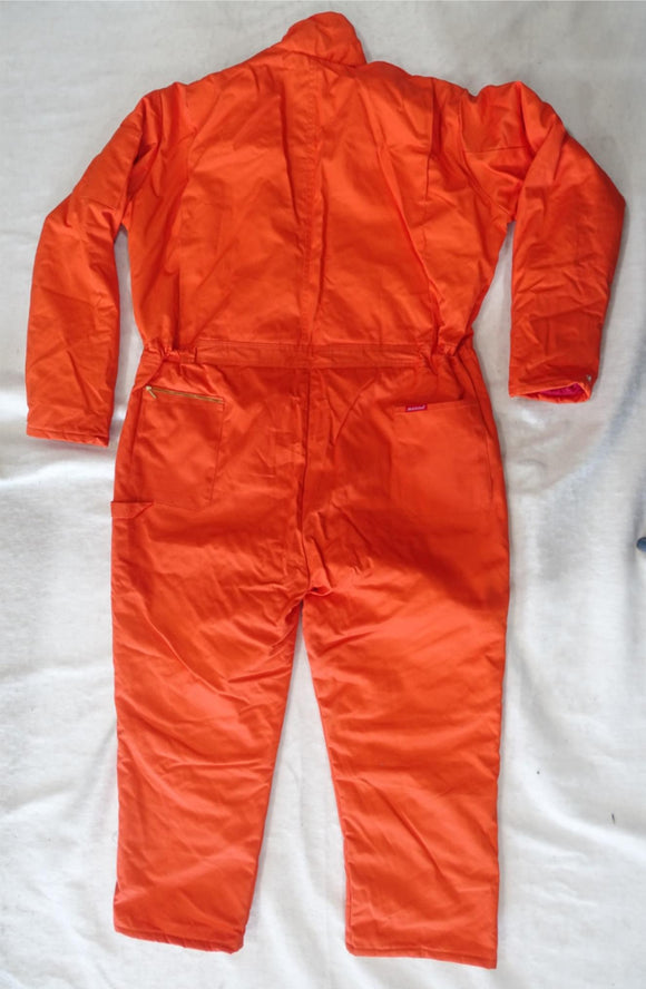 Dickies Orange Long Sleeve Insulated Teflon Coated Coverall - New With Tags