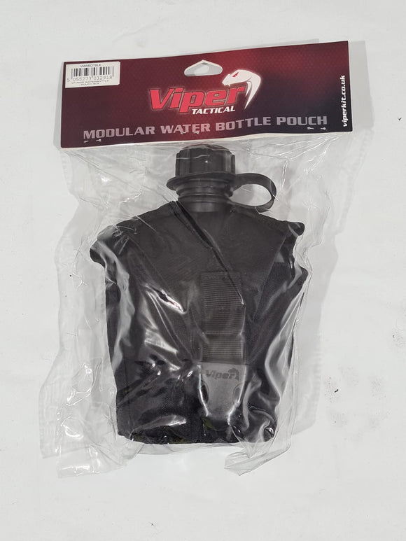New Viper Plastic 1 Litre Water Bottle Canteen With Molle Vest Holder Camping