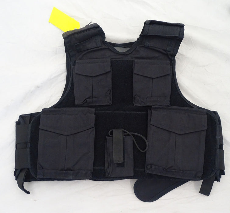 Global Armour Black Ballistic Overt Body Armour Bullet Proof Vest HG2 OA212 A