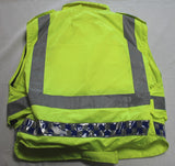 Sat Sioen Hi Vis Body Armour Bullet Proof Stab Vest With Security L/R OA121