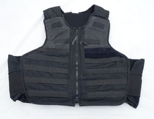 Ex Police Black Hawk Tactical Molle Body Armour Stab Bullet Proof Vest S/R OA70