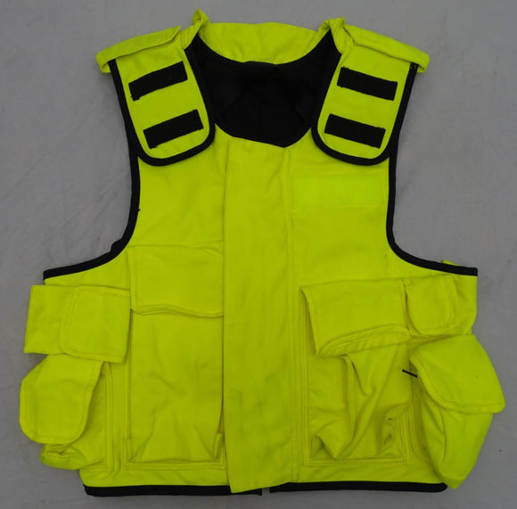 Ex Police Hi Viz Mehler Vario System Body Armour Cover !COVER ONLY! L/S OC99