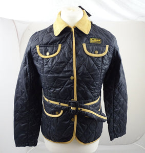New Barbour International Female Quilted Black Jacket Size Small ODDC02