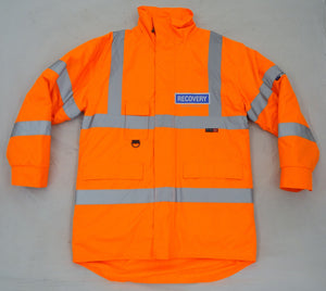 Orange Reflective Leo Workwear Waterproof Recovery Jacket Large OJ01