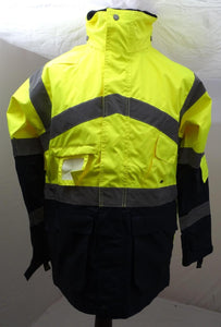New Hivis Portwest Workwear Coat Security Marshal Building Site HVLN