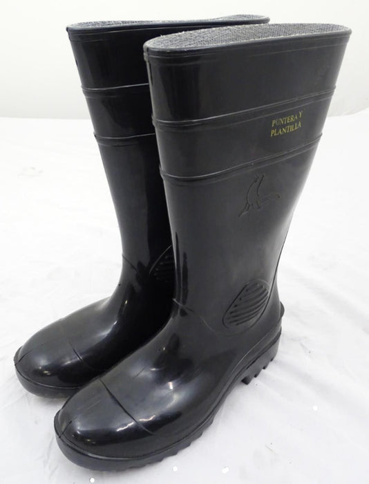 Black Punteray Plantilla Steel Toe Cap Wellington Boots