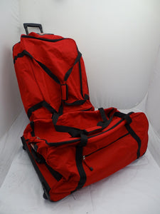 "Remploy Frontline Red Wheelie Holdall With Changeable Inner Spacers 30""x18""x12"""