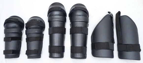 Riot Gear Set Forearm, Thigh and Shin Guards Paintballing Airsoft S01