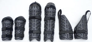 Ex Police Riot Gear Set Forearm, Thigh and Shin Guards Paintballing Airsoft S02
