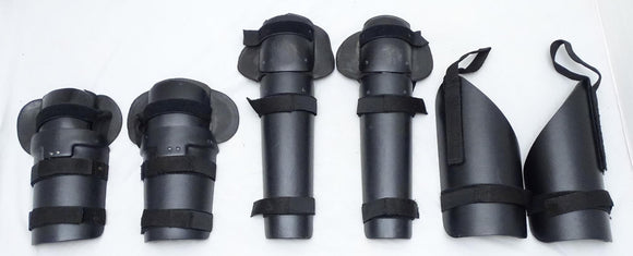 Ex Police Riot Gear Set Forearm, Thigh and Shin Guards Paintballing Airsoft S04