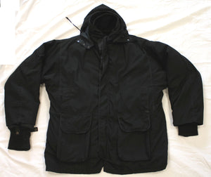 Ex Police Arktis B511 Black Tactical Hooded Coat & Thermolite Liner XXL Grade B