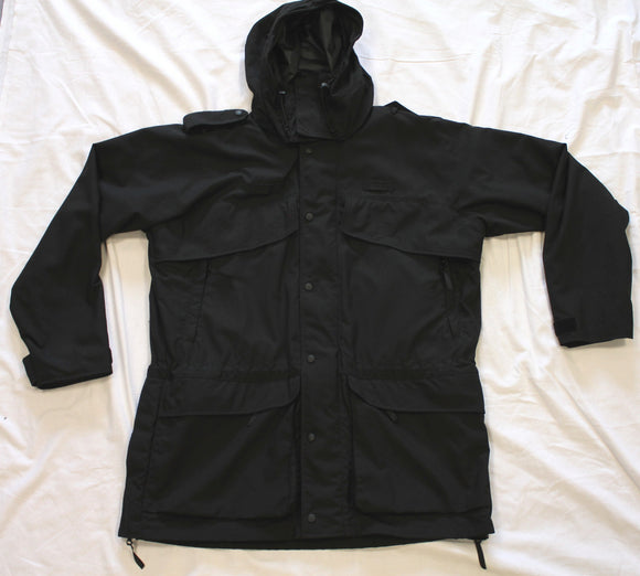 PRI Fieldsuit Jacket Black Waterproof Tactical Hooded Coat Size XL
