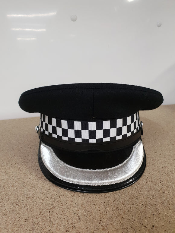 New Genuine Chief Superintendent Silver Banded Flat Peaked Cap Collectors