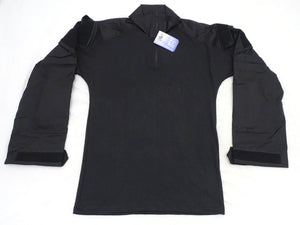 New SOLO Tactical Black UBAC Long Sleeve Shirt With Ripstop Sleeve & Elbow Pads