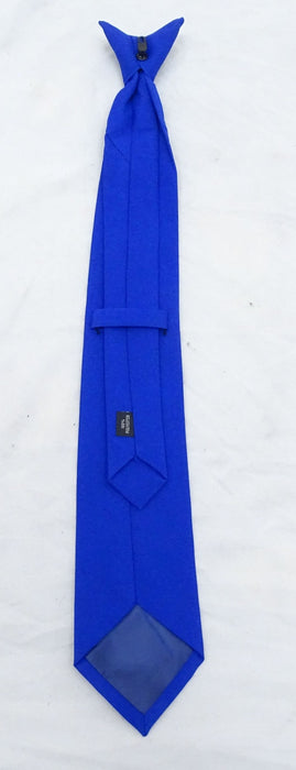 New Ex Police Blue Clip On Tie For Smart Dress Security Doorman Fancy Dress