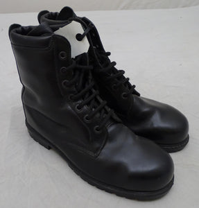Used Black Leather All Terrain Boots (ATB) with Steel Toe Cap and Steel Midsole