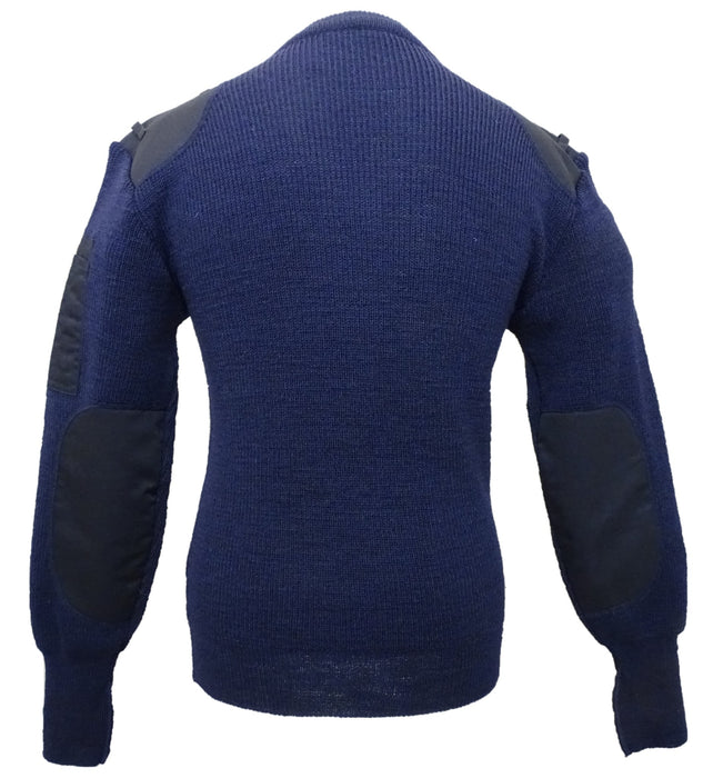 New Genuine Navy Blue Nato Jumper V Neck Pullover 100% Acrylic