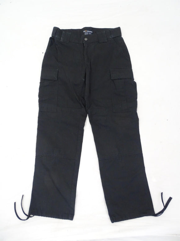Women's Black 5.11 Tactical Series Ripstop Cargo Trousers Pants - Size 6 Reg