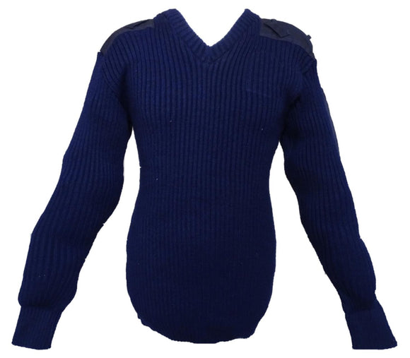 New Thick Knit Navy Blue Nato Jumper Pullover 100% Pure New Wool Doorman