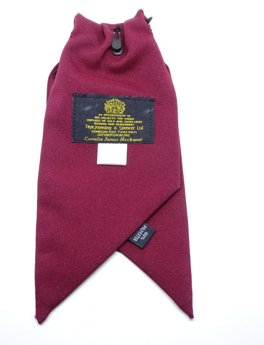Ladies Clip On Cravat Burgundy Genuine British WPC Officer Used
