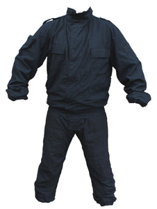 Yaffy 2 Part Zip Off Flame Retardant Riot Overall Coverall Navy Blue 1