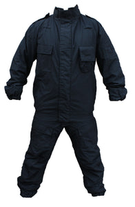 Yaffy 2 Part Zip Off Flame Retardant Riot Overall Coverall Navy Blue 2