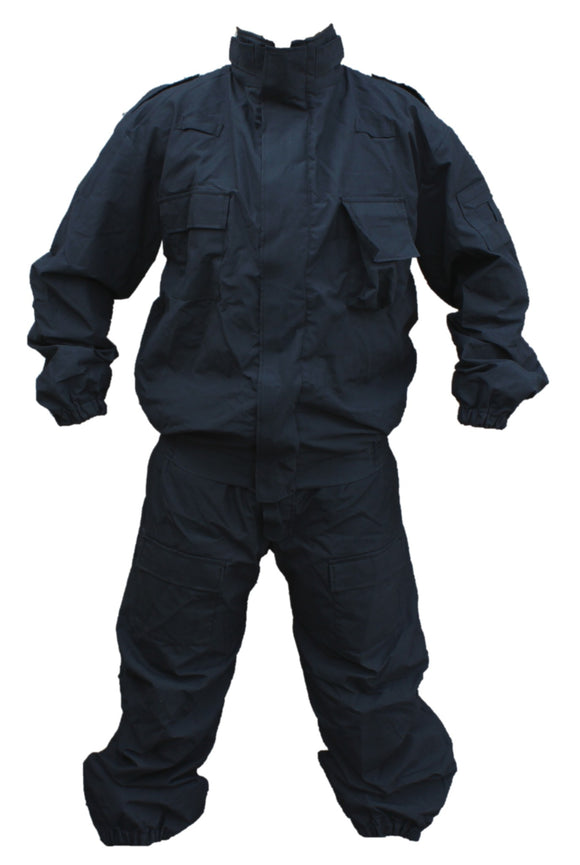 Yaffy 2 Part Zip Off Flame Retardant Riot Overall Coverall Navy Blue 3