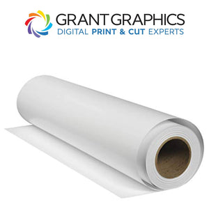 "Grant Graphics Media 30""x150' / Clear GG GlossCal-P - Gloss White Permanent Vinyl"