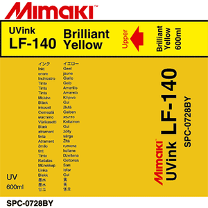 Mimaki Ink Bright Yellow LF-140 UV curable ink 600cc Ink Pack