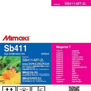 Mimaki Ink Magenta Mimaki SB411 Dye Sublimation Ink