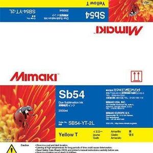 Mimaki Ink Yellow / 2000cc Mimaki SB54 Dye Sublimation Ink