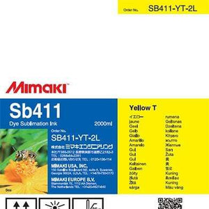 Mimaki Ink Yellow Mimaki SB411 Dye Sublimation Ink