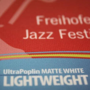 UltraFlex Media UltraFlex: UltraPoplin White Polyester Fabric